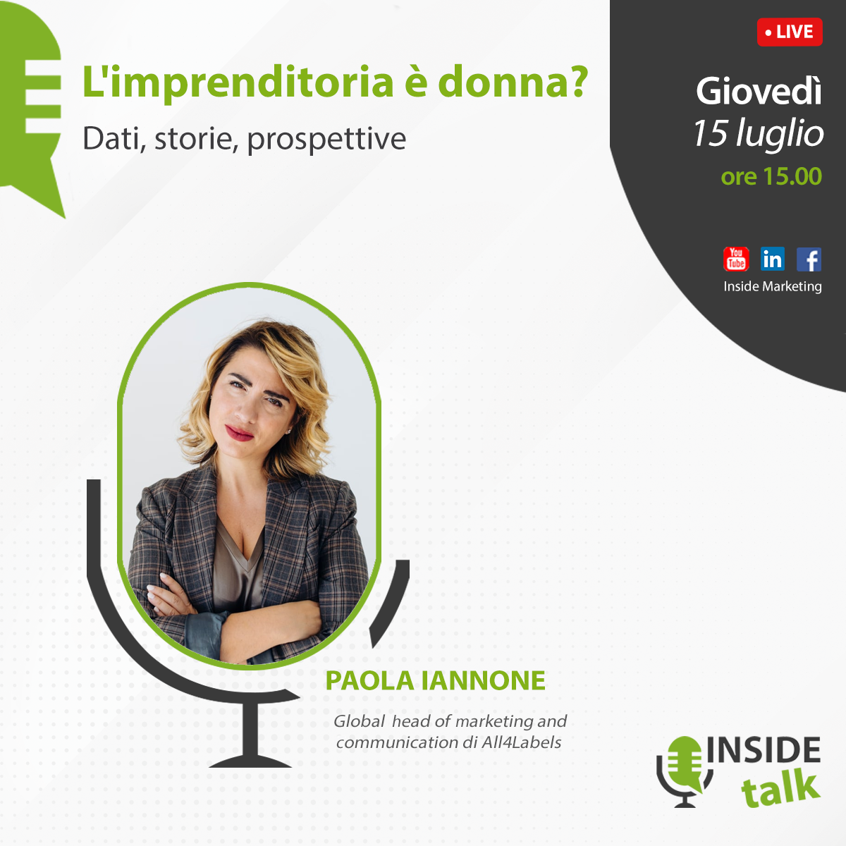 Dati, storie, prospettive. Paola Iannone